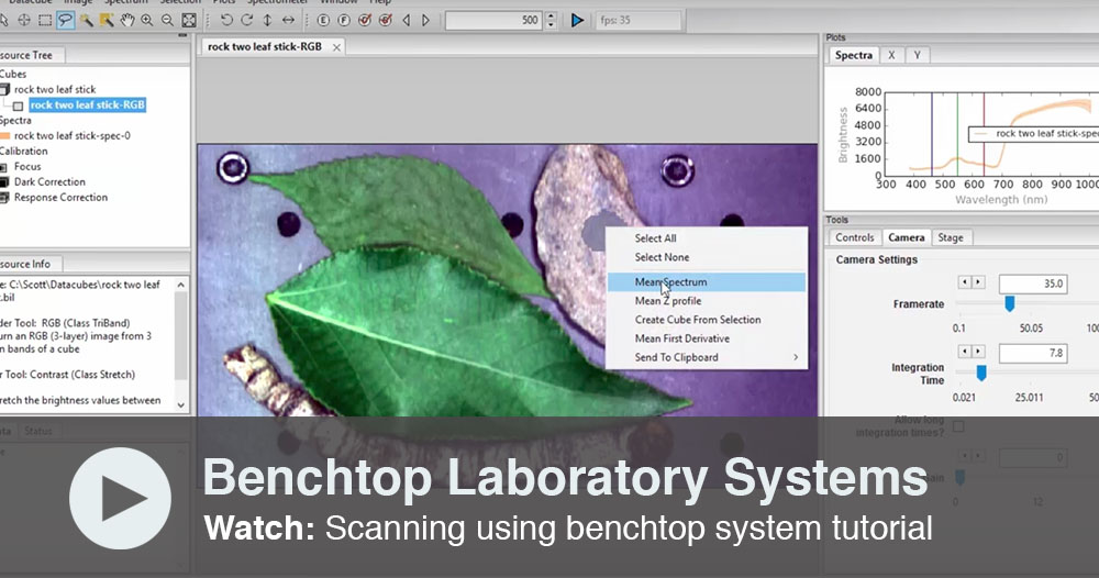 Scanning using benchtop system tutorial