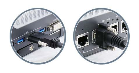 Rugged screw-lock connectivity